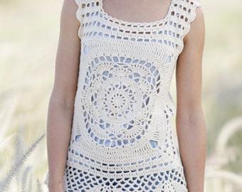 Crochet lace blouse pattern step by step photo