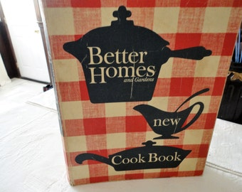 Better Homes And Gardens New Cookbook Vintage Recipe Book Revised Edition Kitchen Collectible