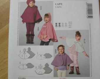 burda kidds 9475 childs cape