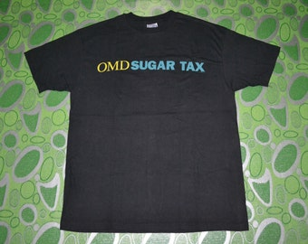 Vintage 1991 ORCHESTRAL MANOEUVRES In The Dark OMD Sugar Synthpop New Wave Tour Concert Promo album super rare T-shirt