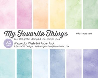 My Favorite Things MFT Watercolor Wash 6x6 Paper Pad - 24 6x6 Sheets