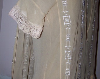 Antique Dress Victorian Edwardian Flapper Small Size AS Is Study or Display