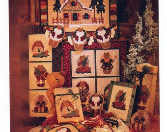 Ginger Bears Christmas, #  89901,  20 x 26 Quilted GingerBear House, Ginger Boys 13 x 33 Inches, Ginger Bear Girls 21 x 23 Inches