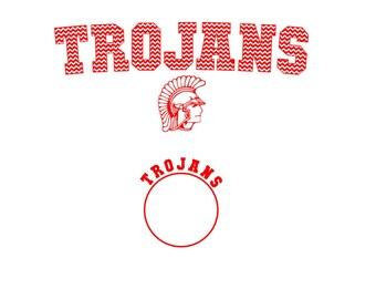 Trojans  Jersey Set SVG Silhouette Studio  Eps Pdf PNG vinyl cutting file