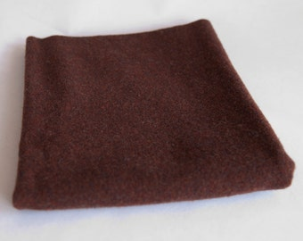 Felted Wool Fabric, Fat Quarter, Brown Solid
