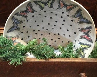 large butterfly bowl