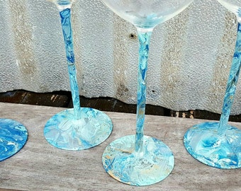 Ocean themed wine glasses