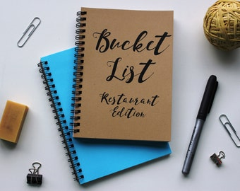 RESTAURANT EDITION - Bucket List -   5 x 7 journal