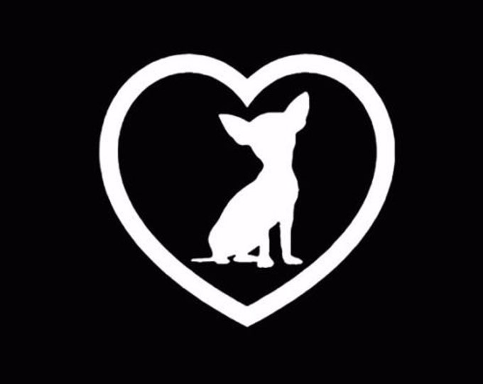Chihuahua Love Vinyl Decal