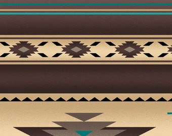 Tucson Aztec fabric by the yard Elizabeth's Studio in sepia