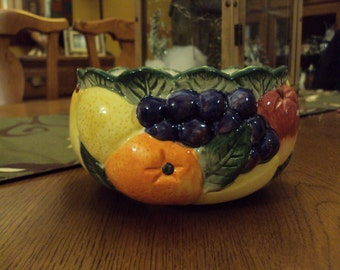 Colorful Fitz and Floyd Fruit Bowl (1989)