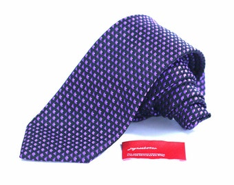Tie (3 inch wide) in Purple and Black
