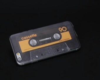 Vintage Cassette Tape iPhone 6 Case Made of Light/Flexible TPU Plastic