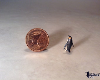Wooden miniature penguin