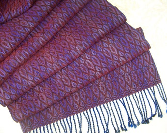 """Handwoven Shawl Scarf Wrap Stole 20""""x 78"""" hand woven Tencel 5 color choices"""