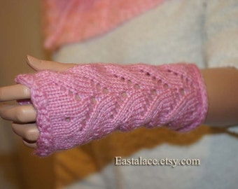 Fingerless Gloves Rose Pink Arm Warmers
