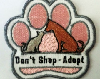 Iron-On Patch - DON'T SHOP - ADOPT