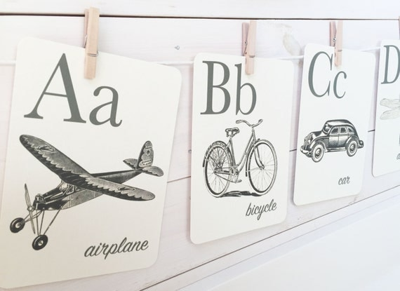 Alphabet Cards Flashcards (large size)