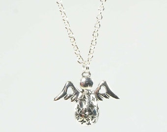 Angel Necklace for Christmas or a Guardian Angel Necklace with Wings.