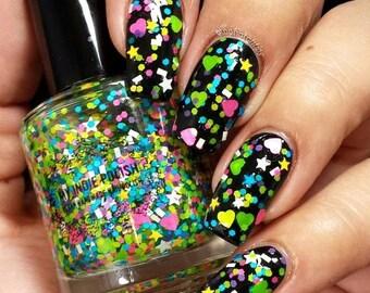 Glitter Nail Polish - wtf was i thinking - 7ml mini - Handmade