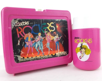Barbie and The Rockers 1987 Thermos and Lunchbox