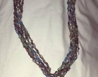 Ladder necklace with pendant