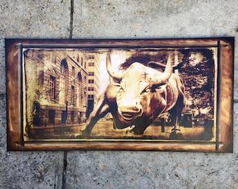 Wall Street Bull - 18x36 in.