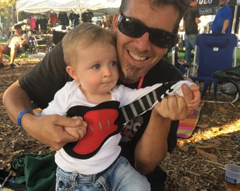 """Baby clothes Awesome  """"Electric Guitar""""  baby guitar bodysuit baby clothes"""