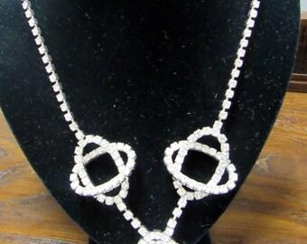 Rhinestone necklace atomic style 1960's