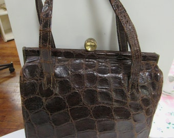 Brown Alligator Purse