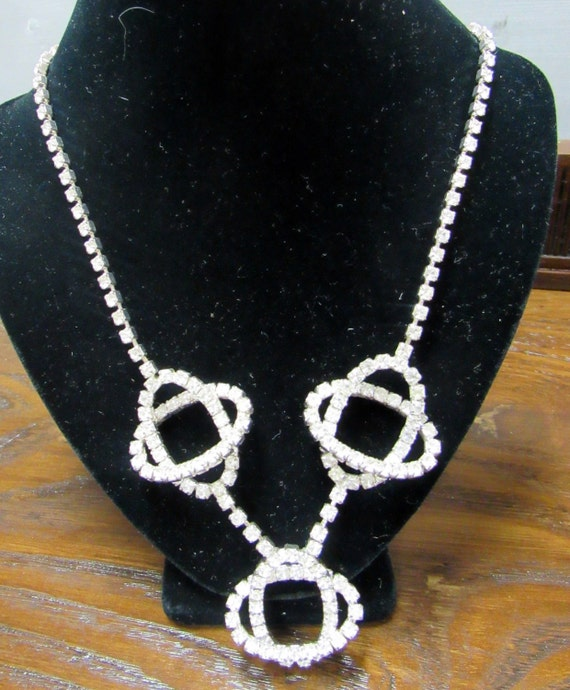 Rhinestone necklace atomic style 1960's