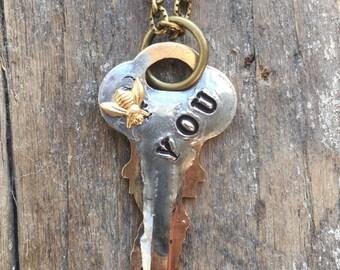 BE YOU Vintage Key Pendant