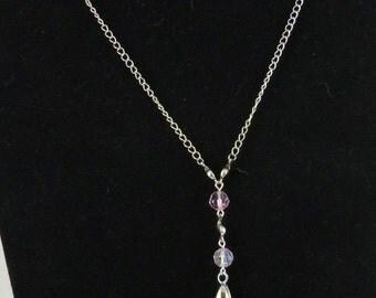 Glamorous Swarovski crystal pendant necklace matching earrings