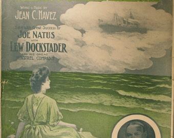 "Antiquarian Sheet Music (1907), ""I'll Be Waiting Dearie When You Come Back Home"""