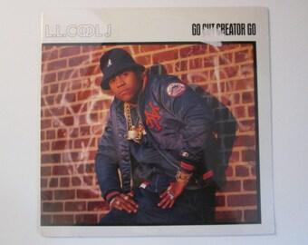 vinyl record ll cool j go cut creator go kanday 12 2 track 1987 rap hip hop single record lp album awesome db mrbig glass top