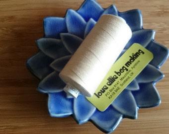 SEWING THREAD Vanilla Cream Moon polyester thread - 1 spool - All Purpose Sewing Thread - Coats Moon Thread - Colour - M070