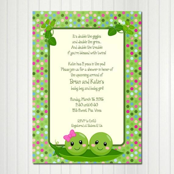 Pea pod invitation peas in a pod invitation pea pod baby shower il570xn filmwisefo