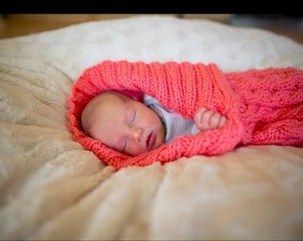 Cabled Infant Cocoon