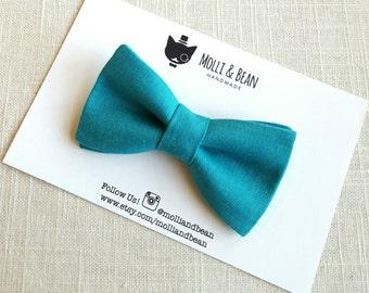The Reign - Baby, Newborrn, Toddler, Kids, Boys bow tie, Wedding bowtie, Ring bearer bowtie, Blue bow tie, Clip on bowtie, Easter bowtie