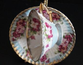 Vintage, Floral Teacup Set