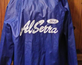 Vtg. Ford Hooded Rain Jacket Size XL Snap Down Front/Two Front Pockets