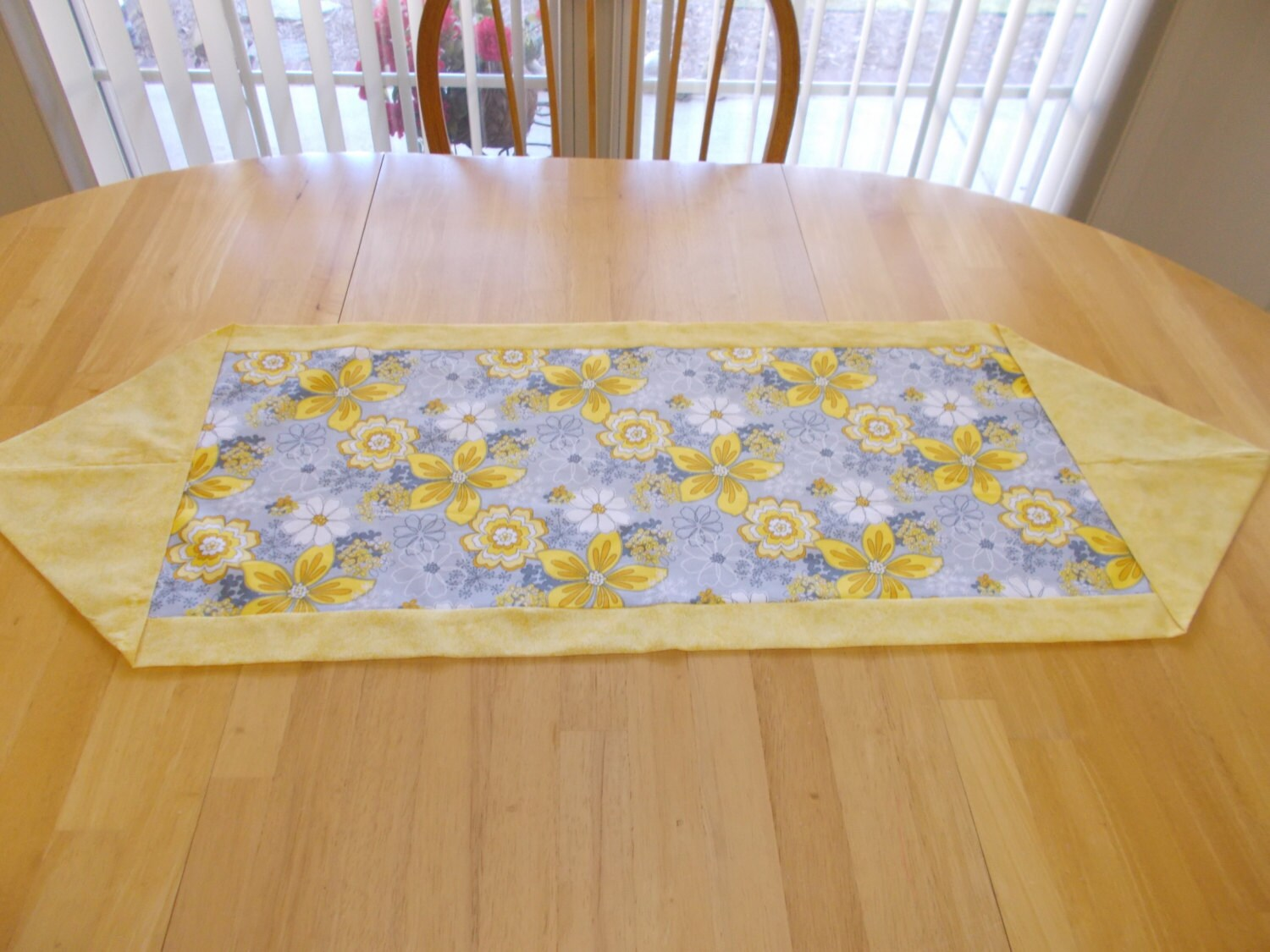 Floral And Yellow Table Runner Coffee Table Runner Dresser
