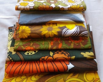 Bundle of Vintage Fabric Pieces from 1950's to 70's Barbara Brown Heals (3)