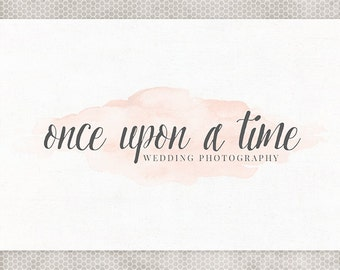 Premade Logo Design | Small Business Logo | Photography Branding | Simple Logo Design | Pink and Gray | Watercolor Logo | Small Business