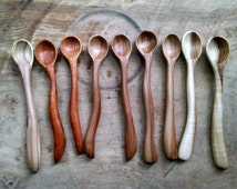 3 Small wooden spoons. Wooden spoons. Hardwood Spoons. Wooden Baby Spoons. Wooden Salt spoon. Wooden sugar spoons. Wooden honey spoons.
