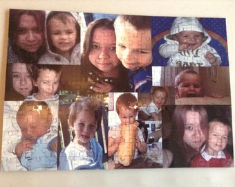Personalised A3 / A4 Jigsaw / Puzzle - Your Own Photos - Own Wording on Jigsaw  - 30/60/96/120/150/221 pieces