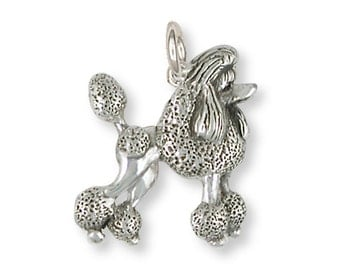 Poodle Charm Handmade Sterling Silver Dog Jewelry PD59-C