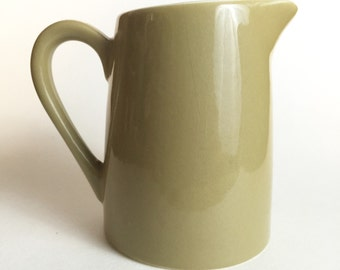 Olive Creamer // 60s Khaki Colored Pitcher