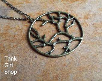 """Chain vintage """"Lebensbaum"""" bronze"""