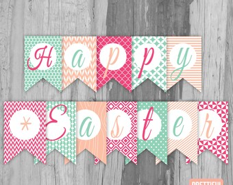 Happy Easter Banner Printable Instant Download